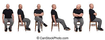 Man with sportswear sitting on a chair