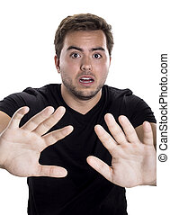 Man with Stop Gesture