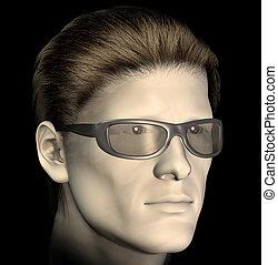 man with sunglasses illustration