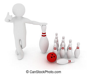man with the elements of bowling