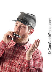 man with the harmonica