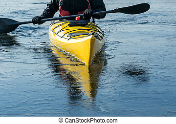 man with the kayak