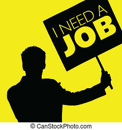 man with the slogan i need a job