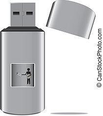 man with the usb stick
