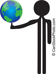 man with the world in balance