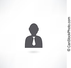 man with tie icon