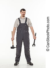 Man with tool