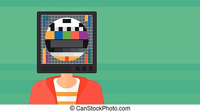 Man with TV head.