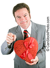 Man with Valentine Heart for You