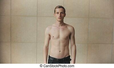 Man without a shirt
