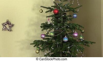 man woman christmas gift - man hands present gift box for...