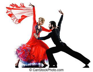 man woman couple ballroom tango salsa dancer dancing silhouette