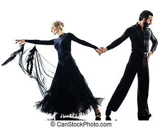 man woman couple ballroom tango salsa dancer dancing silhouette
