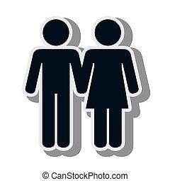 man woman couple