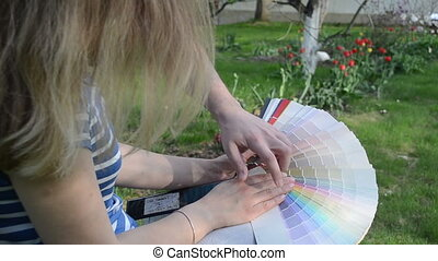 man woman pick color