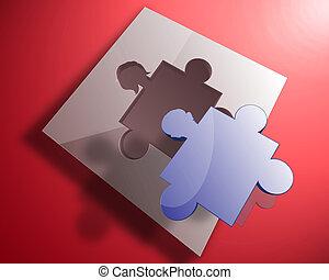 man-woman puzzle - illustration of man-woman relationship...
