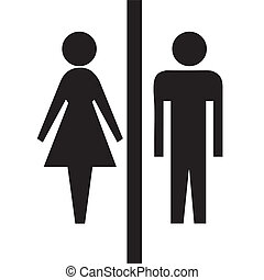Man woman sign