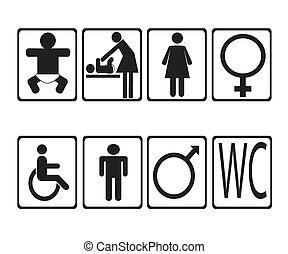 man woman toilet signs . vector