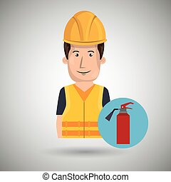 man worker protection tools icon