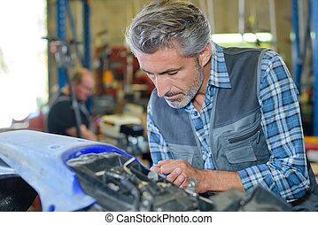 man worker working