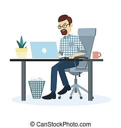 Man working at office.