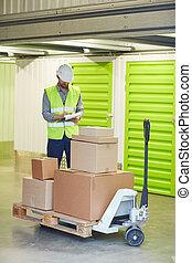 Man working in storage room