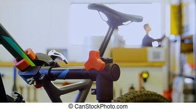 Man working in workshop 4k
