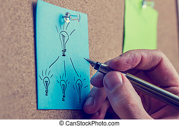 Man working on a business plan