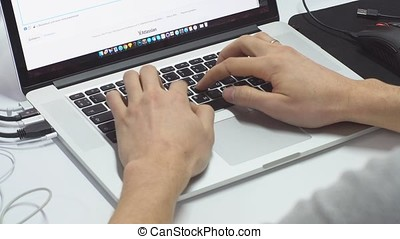 Man working on laptop
