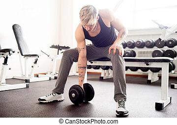 Man workout at gym