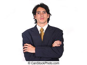 man1, orgulloso, empresa / negocio