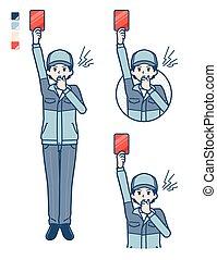 man_red-card, entrega, simple
