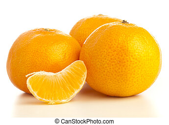 manadarin orange - mandarin orange group on a white...
