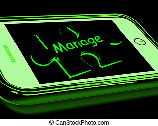 Manage On Smartphone Shows Mobile Supervising