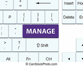 Manage purple keyboard button