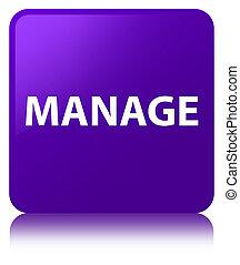 Manage purple square button