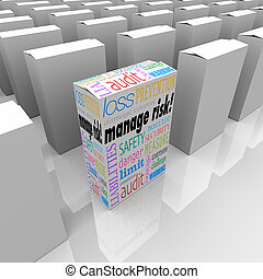 Manage Risk Package Box Choose Best Security Safety Option -...