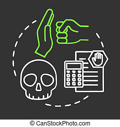 Manage threats chalk RGB color concept icon. Assess virus. Self-building and development. Handling crisis. Avoid fraud. Achieve goals idea. Vector isolated chalkboard illustration on black background