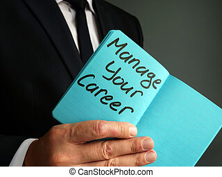 Manage your career handwritten on the page.