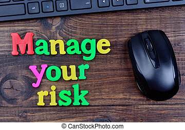 Manage your risk words on table
