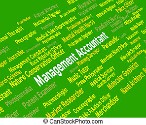 Management Accountant Shows Balancing The Books And Accountants