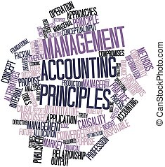 Management accounting principles - Abstract word cloud for...