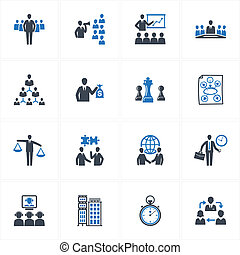 Management and Business Icons - Set of 16 management and...