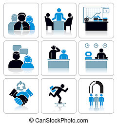 Management and Business Icons. Vector Set