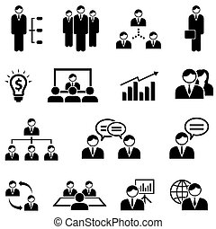 Management and business web icon set