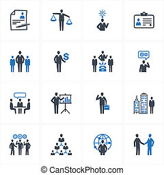 Set of 16 management and human resource icons, great for presentations, web design, web apps, mobile applications or any type of design projects.