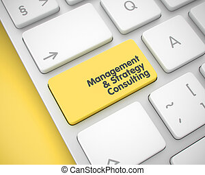 Management And Strategy Consulting - Inscription on the Yellow K
