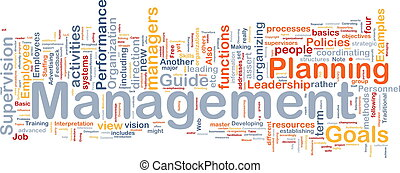 Management background concept