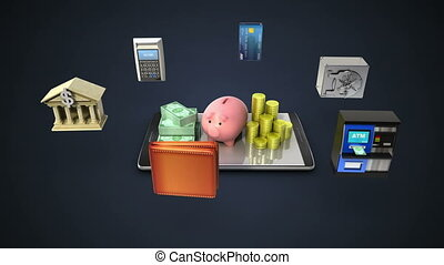 Management bank account, Mobile banking (included alpha)