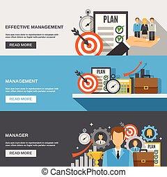 Management Banner Set - Management horizontal banner set...
